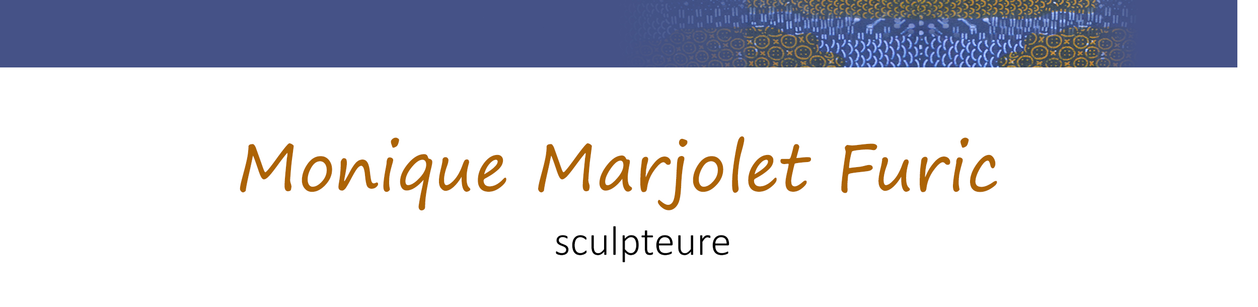 Monique Marjolet Furic - Sculptures Logo
